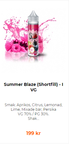 summer blaze vape juice