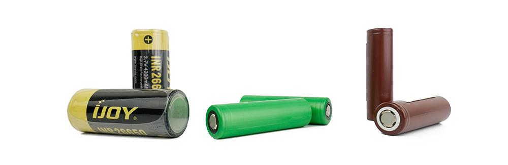 Batterier - 18650, 26650, 20700, 21700